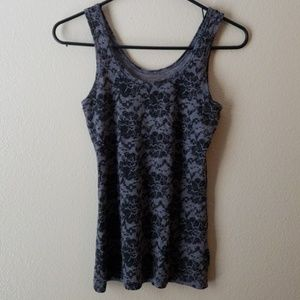 Tops - Black and Gray Tank Top